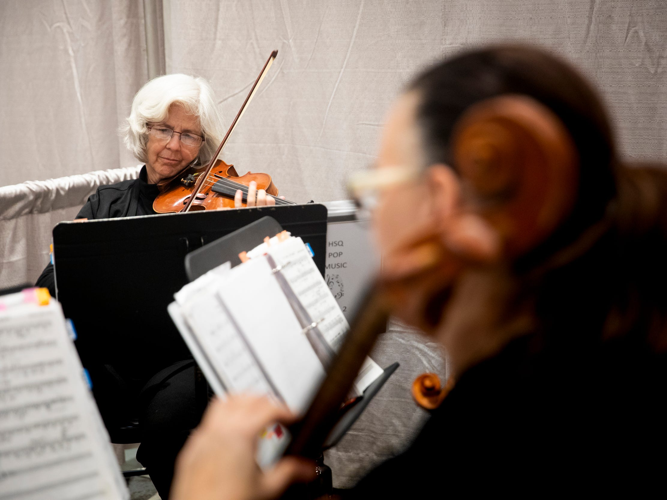 Hawthorne String Quartet performs for the Wendy's Bridal Show at the Duke Energy Convention Center Saturday, January 5, 2019 in Downtown Cincinnati.