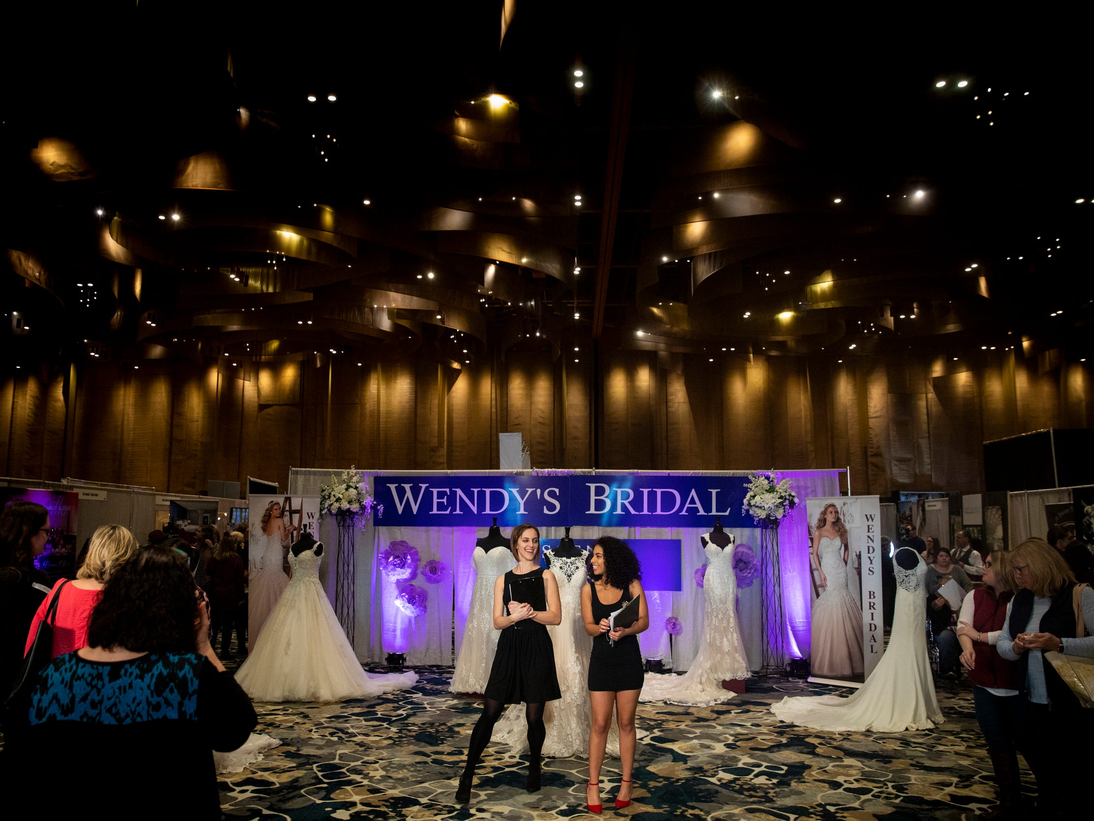 Hundreds of brides and vendors gather for the Wendy's Bridal Show at the Duke Energy Convention Center Saturday, January 5, 2019 in Downtown Cincinnati.  The Show will be open Sunday, January 6, 2019 from 11 a.m. to 5 p.m.