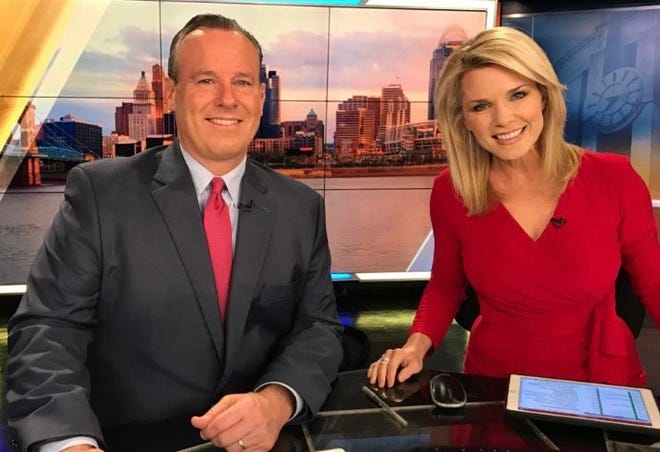 Mike Dardis and Sheree Paolello are co-anchors of evening broadcasts for WLWT in Cincinnati.