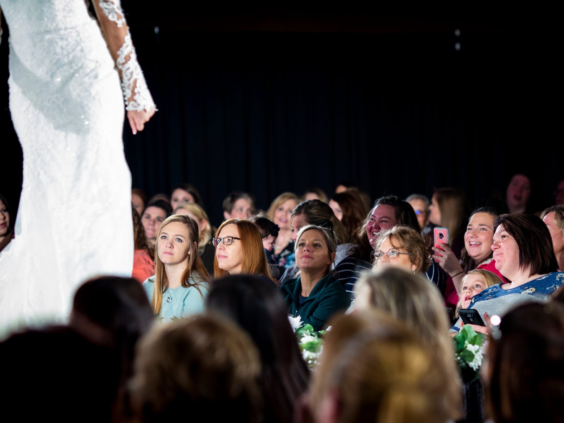 Hundreds of spectators watch the fashion show at the Wendy's Bridal Show at the Duke Energy Convention Center Saturday, January 5, 2019 in Downtown Cincinnati.
