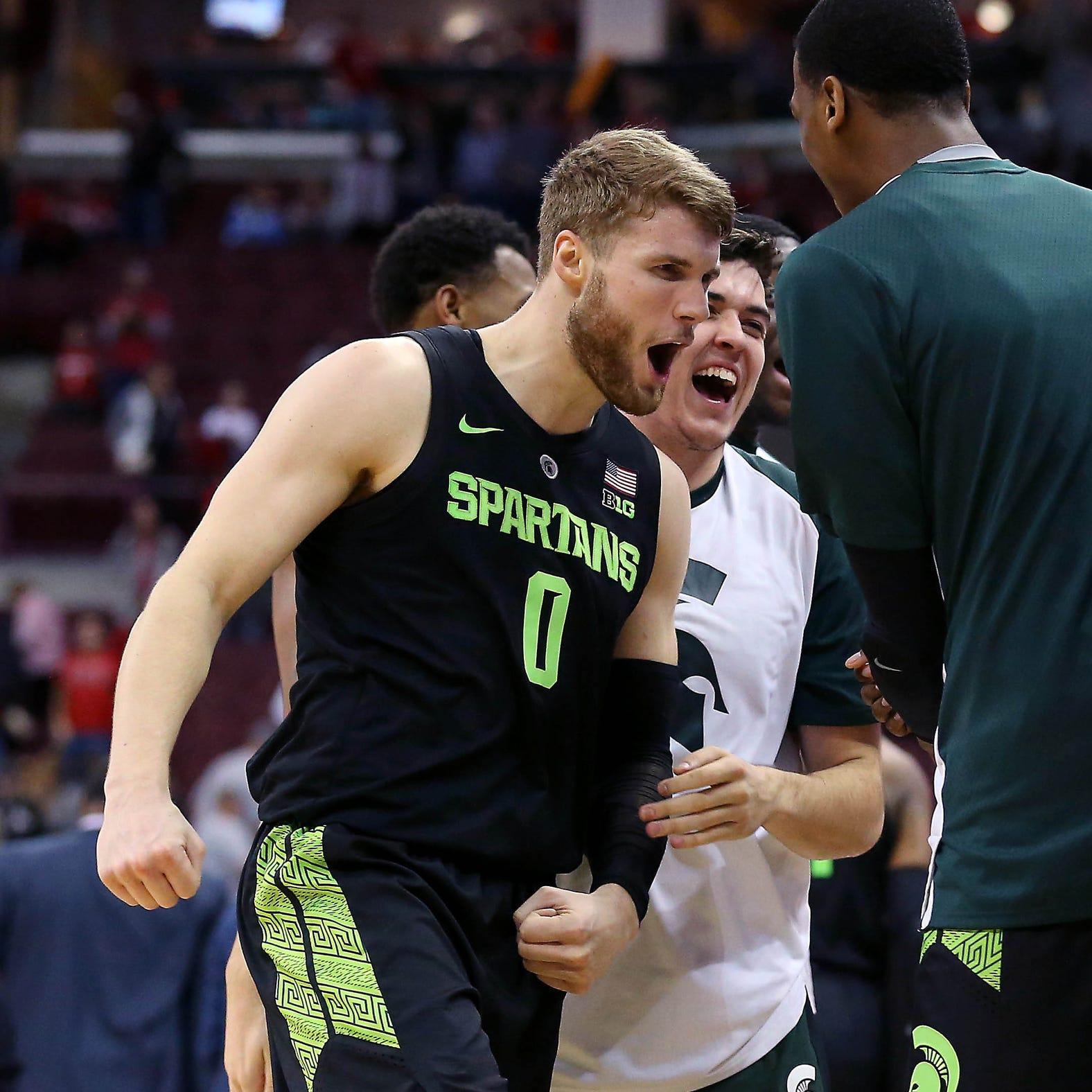 Michigan State basketball's Kyle Ahrens, Joshua Langford out at Nebraska
