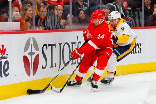 Nhl Nashville Predators At Detroit Red Wings