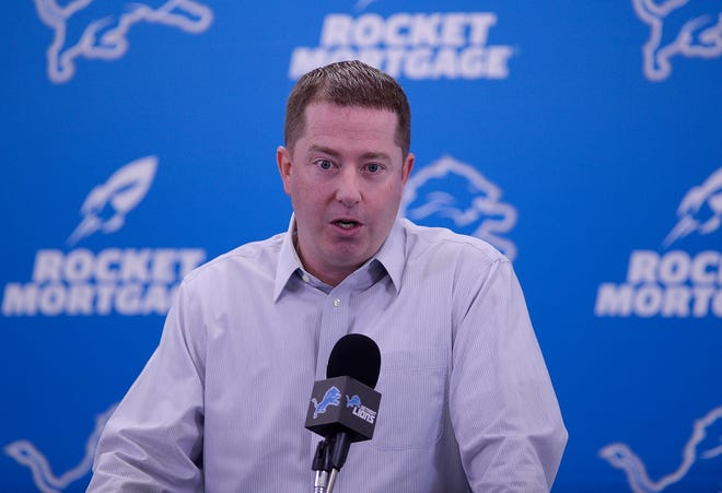 Lions GM Bob Quinn talks about the team and its needs during his season-ending news conference on Friday.