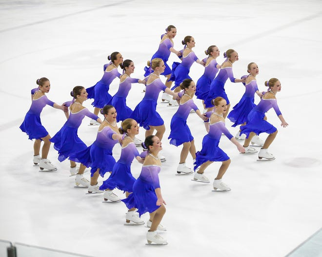 The Fond du Lac Blades perform Saturday, Jan. 5, 2019 at the Blue Line Family Ice Center in Fond du Lac, Wisconsin, during the Foot Of The Lake Synchronized Skating Classic. Dozens of teams from around the United States compete in this day long event.