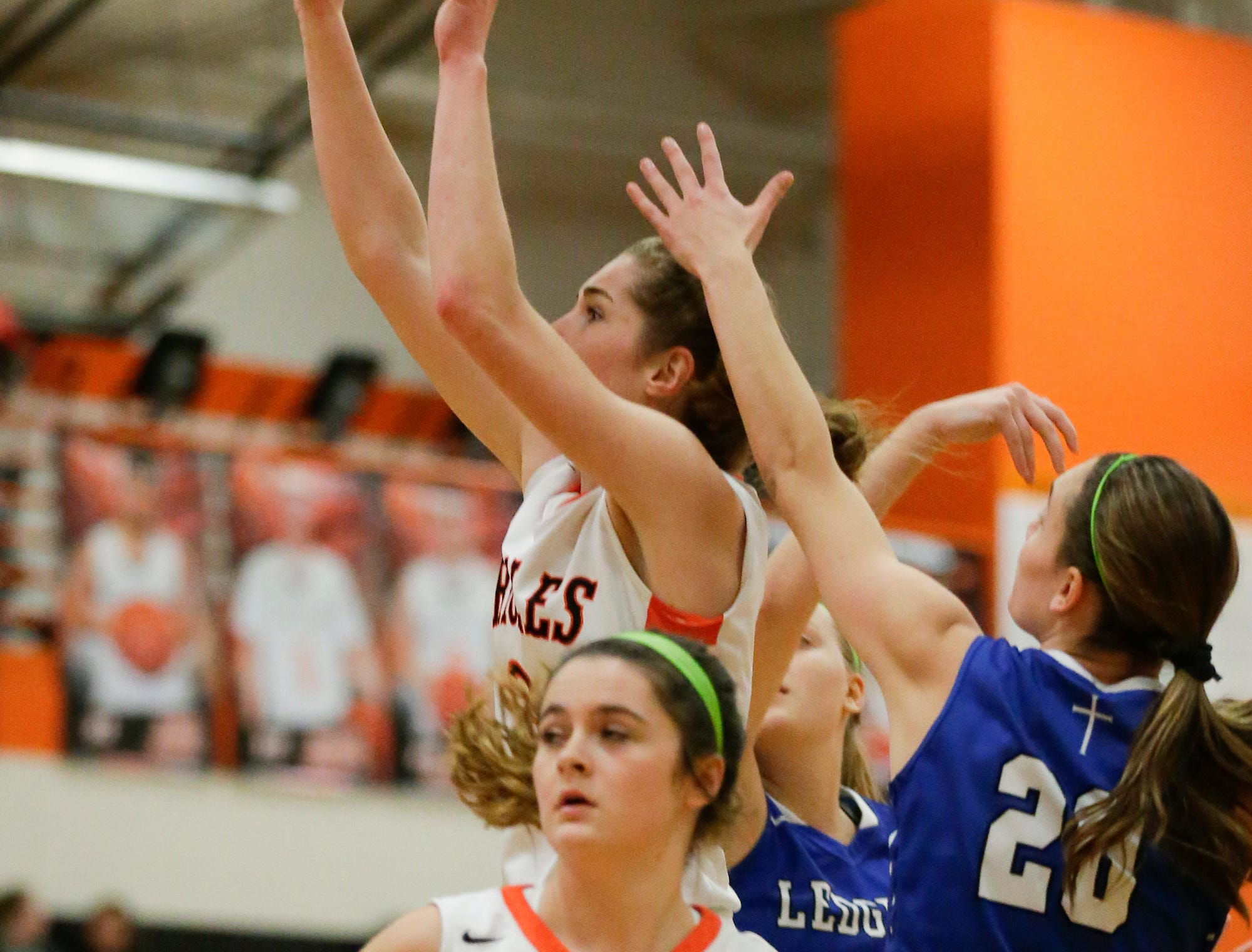 North Fond du Lac High School girls basketball's Paige Smith goes up for a basket against St. Mary's Springs Academy during their game Friday, January 4, 2019 in North Fond du lac. Doug Raflik/USA TODAY NETWORK-Wisconsin