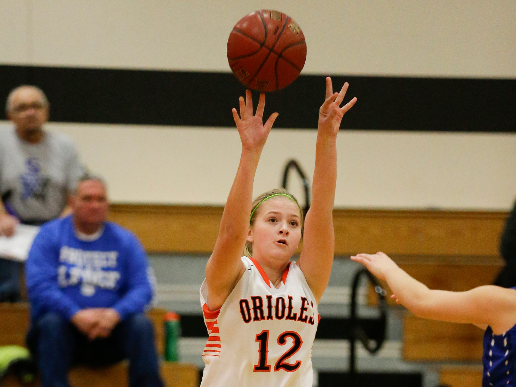 North Fond du Lac High School girls basketball's  Bree Rock attempts a basket against St. Mary's Springs Academy during their game Friday, January 4, 2019 in North Fond du lac. Doug Raflik/USA TODAY NETWORK-Wisconsin