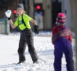 Dozens of people took advantage of the warm weather to have fun at Hamilton Park during Winterfest.