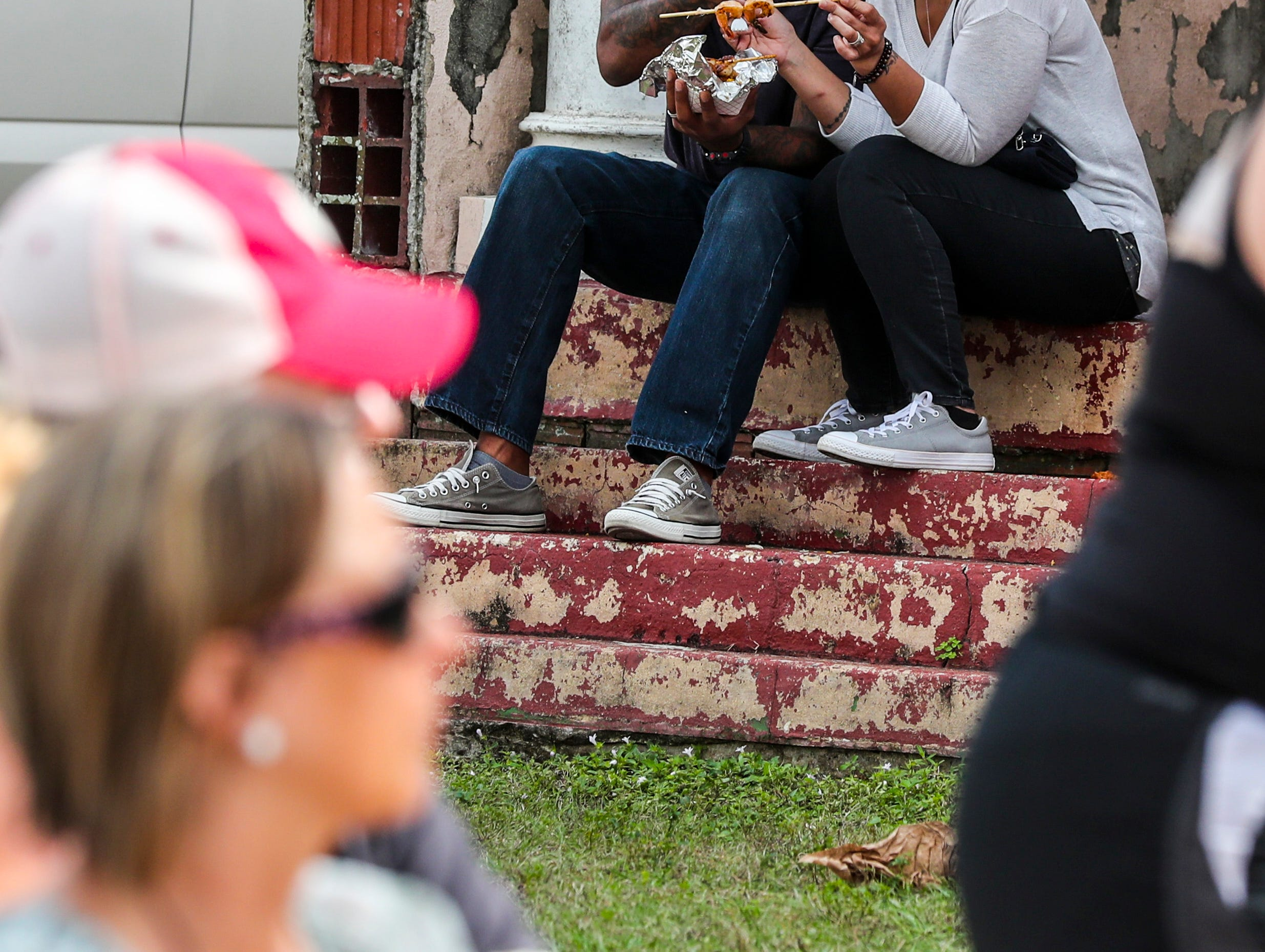 Fort Myers Seafood and Music Festival is a new event for downtown Fort Myers that featured live bands, seafood dishes from vendors and local restaurants and a small marketplace with arts, crafts and more items.
