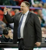 UWGB coach Linc Darner's team has lost three straight games after a 76-70 loss to IUPUI on Thursday.