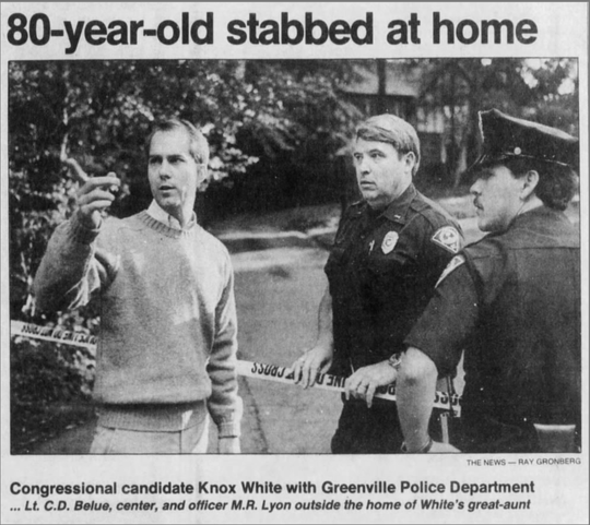 A newspaper clipping from The Greenville News.