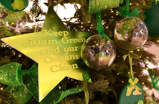 Green was the color scheme assigned to J.Q. San Miguel Elementary School for their Christmas decorated tree entered in the 6th annual Festival of Trees competition at the T Galleria by DFS in Tumon. The school placed first and was awarded $2,000.