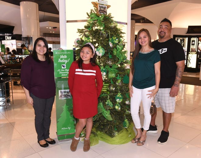 J.Q. San Miguel Elementary School was announced as the first place winner and awarded $2,000 in the 6th annual Festival of Trees competition during a brief ceremony at the T Galleria by DFS in Tumon on Saturday, Jan. 5, 2019.