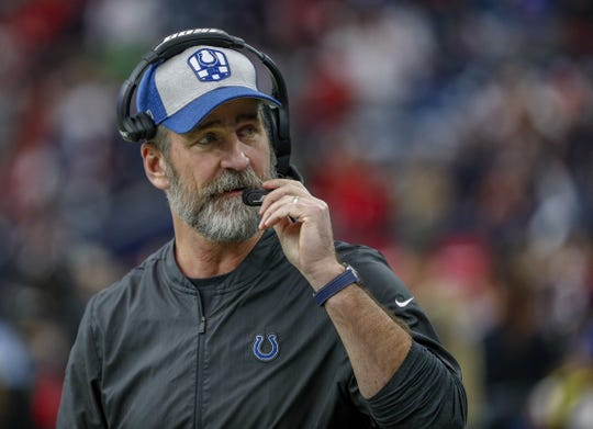 """1-0 has already started for next year,"" Colts coach Frank Reich said on Sunday."