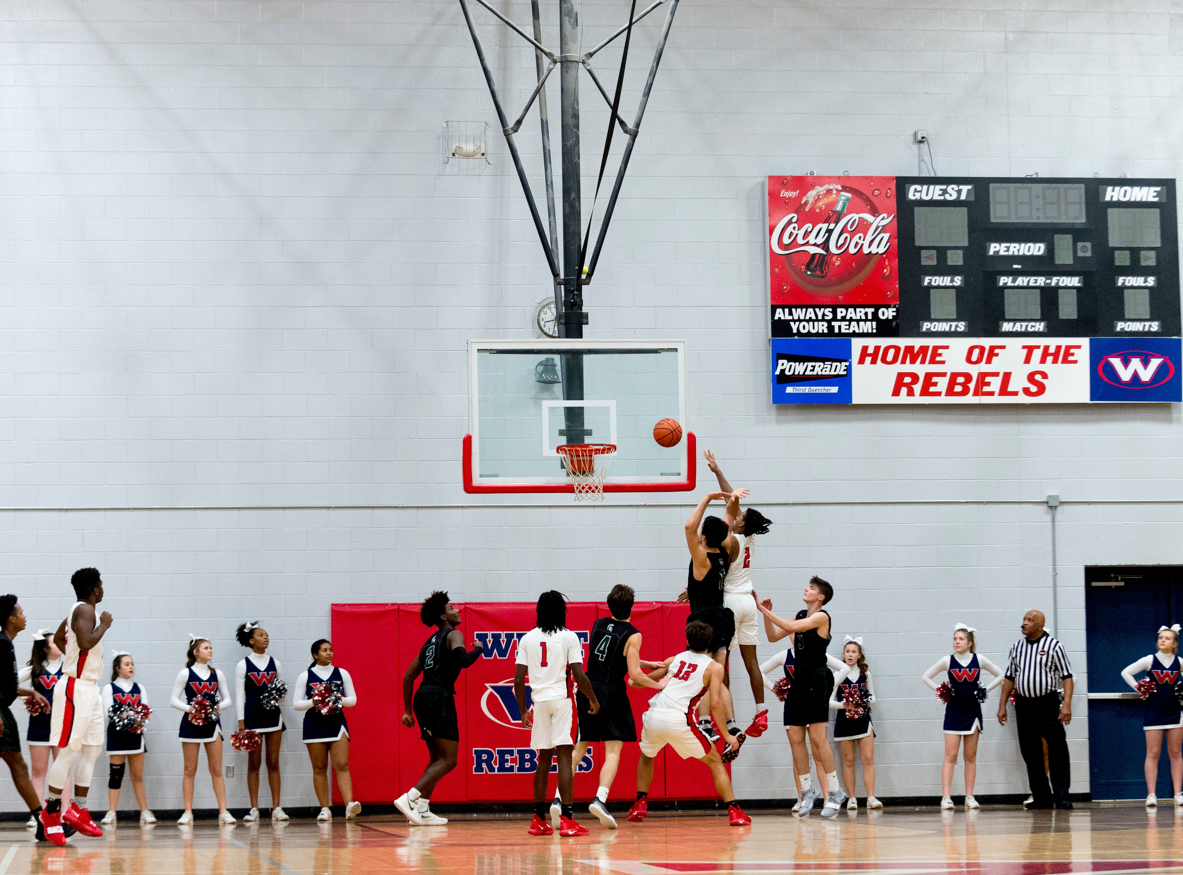 Players compete during a game between West and Webb at West High School in Knoxville, Tennessee on Friday, January 4, 2019.