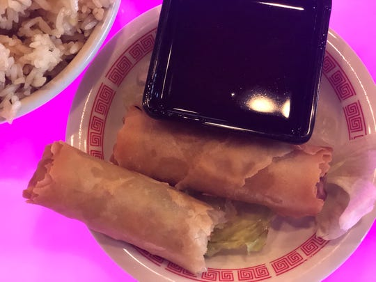 Pork spring rolls at Asia Cafe in Powell