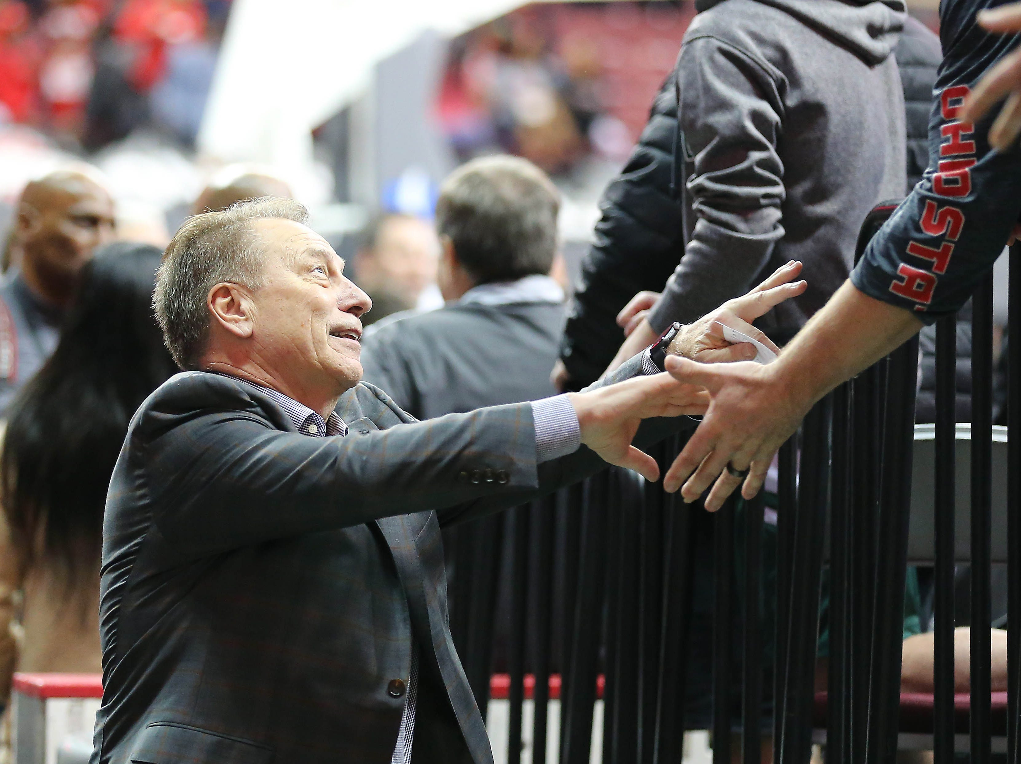 Jan 5, 2019; Columbus, OH, USA; Michigan State Spartans head coach Tom Izzo following the second half against the Ohio State Buckeyes at Value City Arena. Mandatory Credit: Joe Maiorana-USA TODAY Sports