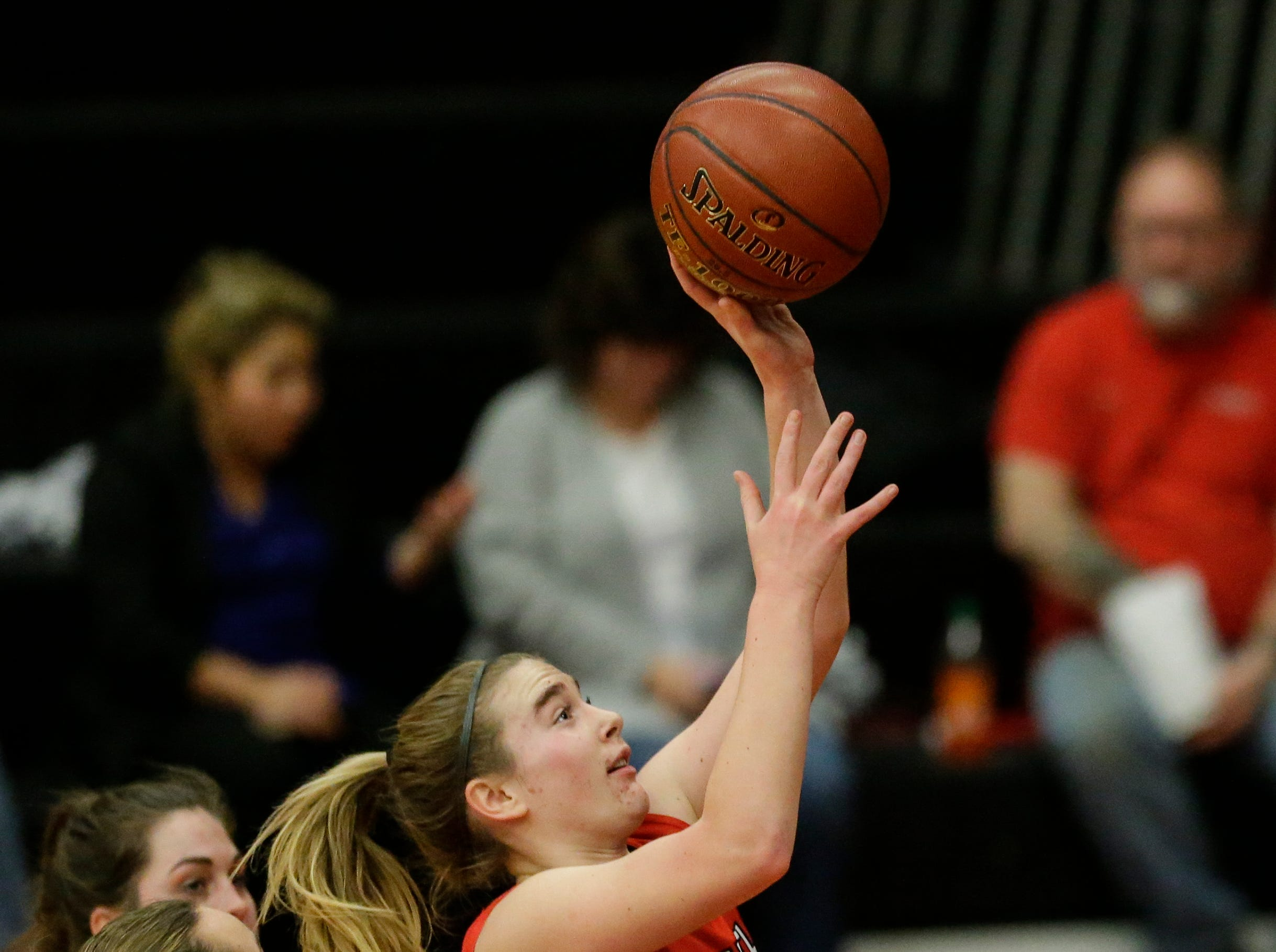 Sheboygan South's Halle Boldt (23) drives to the hoop against Manitowoc Lincoln during an FRCC matchup at Manitowoc Lincoln High School Friday, January 4, 2019, in Manitowoc, Wis. Joshua Clark/USA TODAY NETWORK-Wisconsin