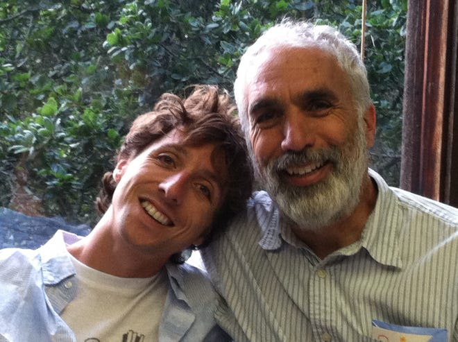 David Sheff (right) and his son, Nic, whose memoirs chronicled Nic's descent into methamphetamine addiction and his family's fight to help him through recovery, will speak Friday at the Sharon Lynne Wilson Center for the Arts in Brookfield.