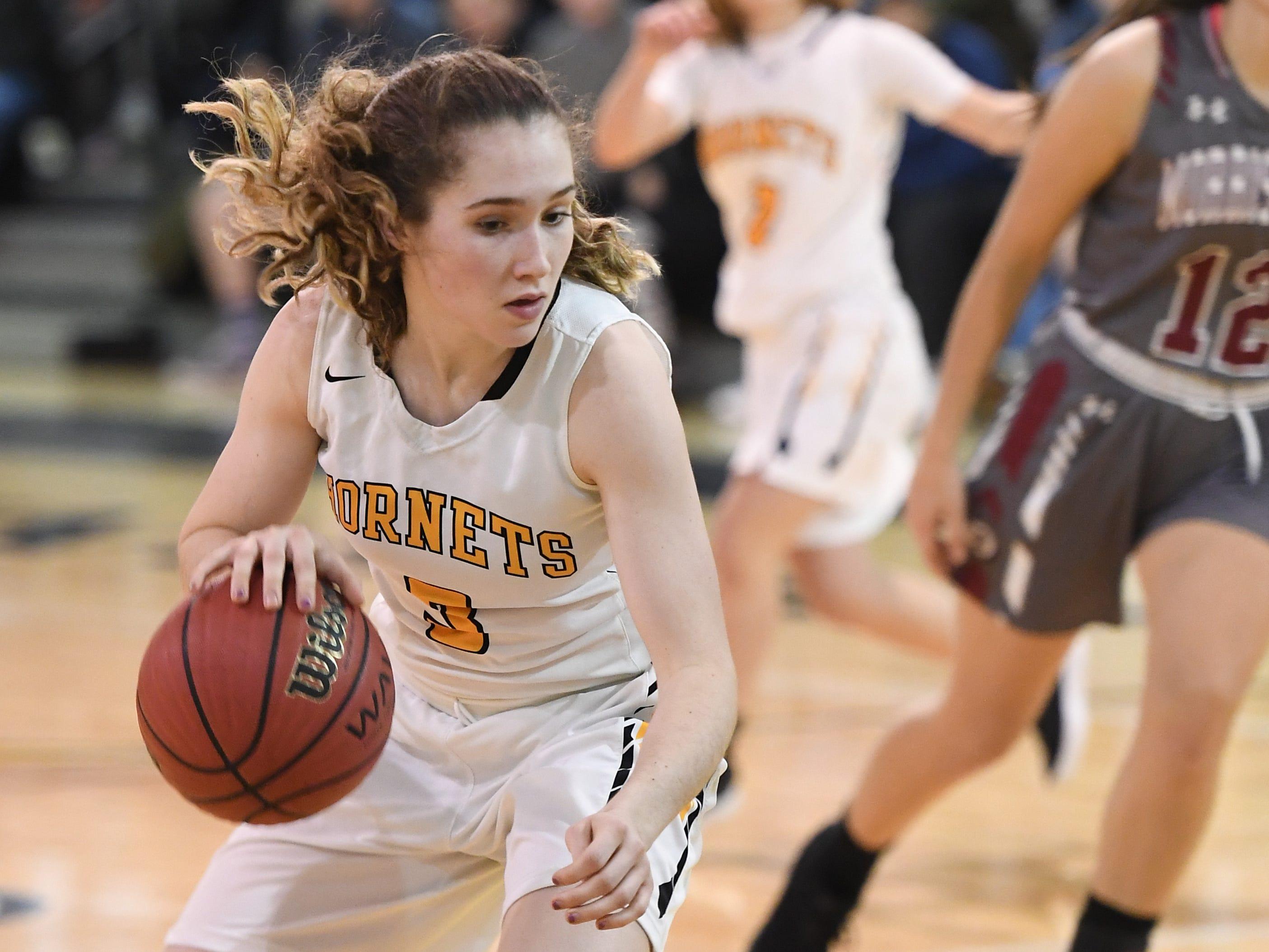 Morristown-Beard girls basketball at Hanover Park on Friday, January 4, 2019. HP #3 Kelsey Stites.