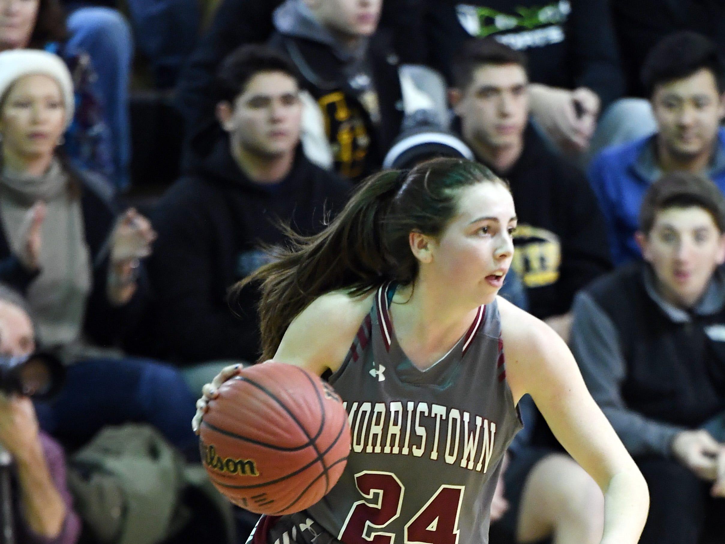 Morristown-Beard girls basketball at Hanover Park on Friday, January 4, 2019. MB #24 Bridget Monaghan.