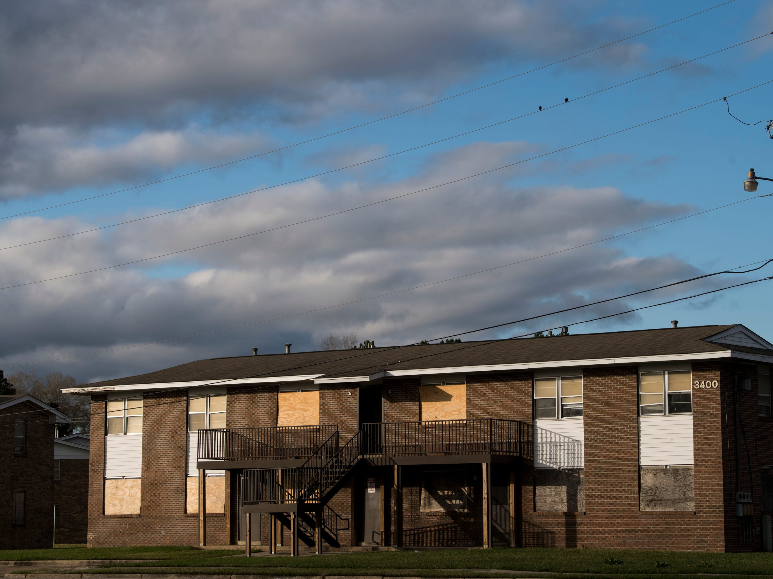 Empty and boarded up homes at Smiley Court in Montgomery, Ala., on Friday, Jan. 4, 2019.