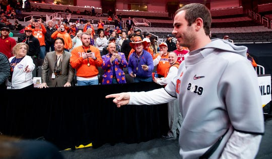 Clemson wide receiver Hunter Renfrow (13) during the Clemson Media Day at the SAP Center in San Jose, Ca., on Saturday January 5, 2019.