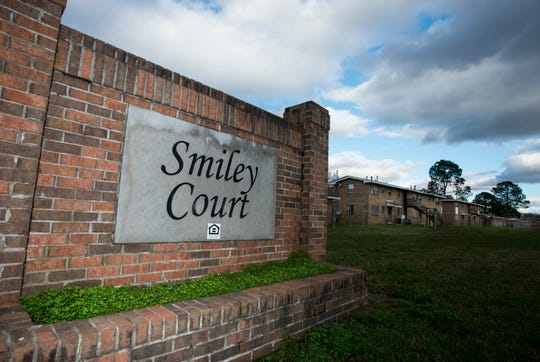 Smiley Court is completely empty and is set to be demolished in Montgomery, Ala., on Friday, Jan. 4, 2019.