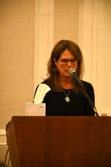 Herb Savage's daughter Sharon Stewart talks about her dad as Marco Island paid tribute on Saturday, Jan. 5, 2019, to Savage, who would have turned 100 years old on Sunday but died five days short of the century mark. The birthday party at the Hilton Marco Island instead became a celebration of his life.