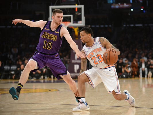 Nba New York Knicks At Los Angeles Lakers