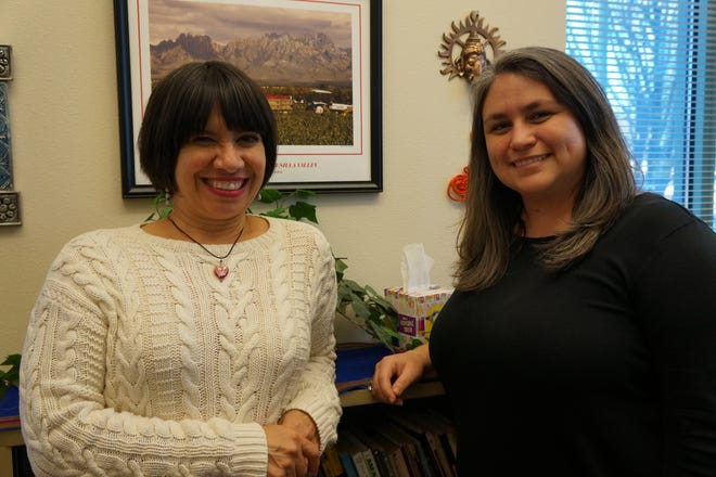 Blanca Araujo, left, director of the Office for Teacher Candidate Preparation at New Mexico State University, has been named the Stan Fulton Chair in Education for the Improvement of Border and Rural Schools, while Michelle Salazar Pérez, associate professor of Early Childhood Education, is the recipient of the J. Paul Taylor Endowed Professorship in Education.