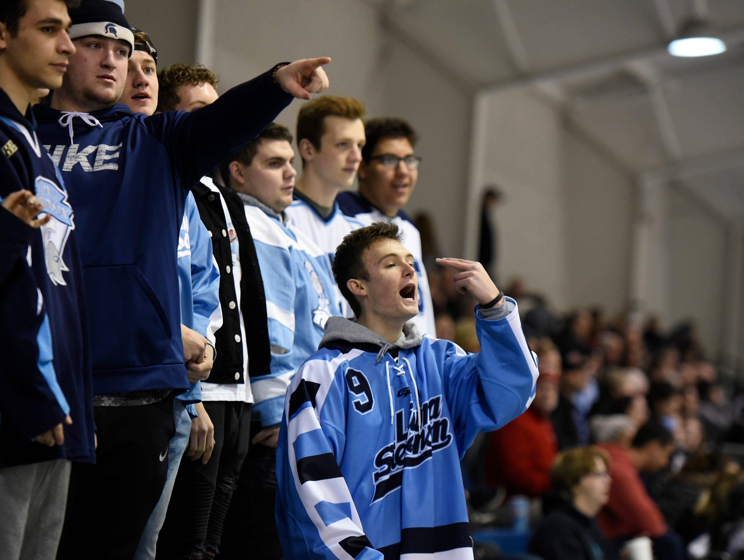Stevenson student body section during game at Eddie Edgar Arena Jan. 4, 2019.
