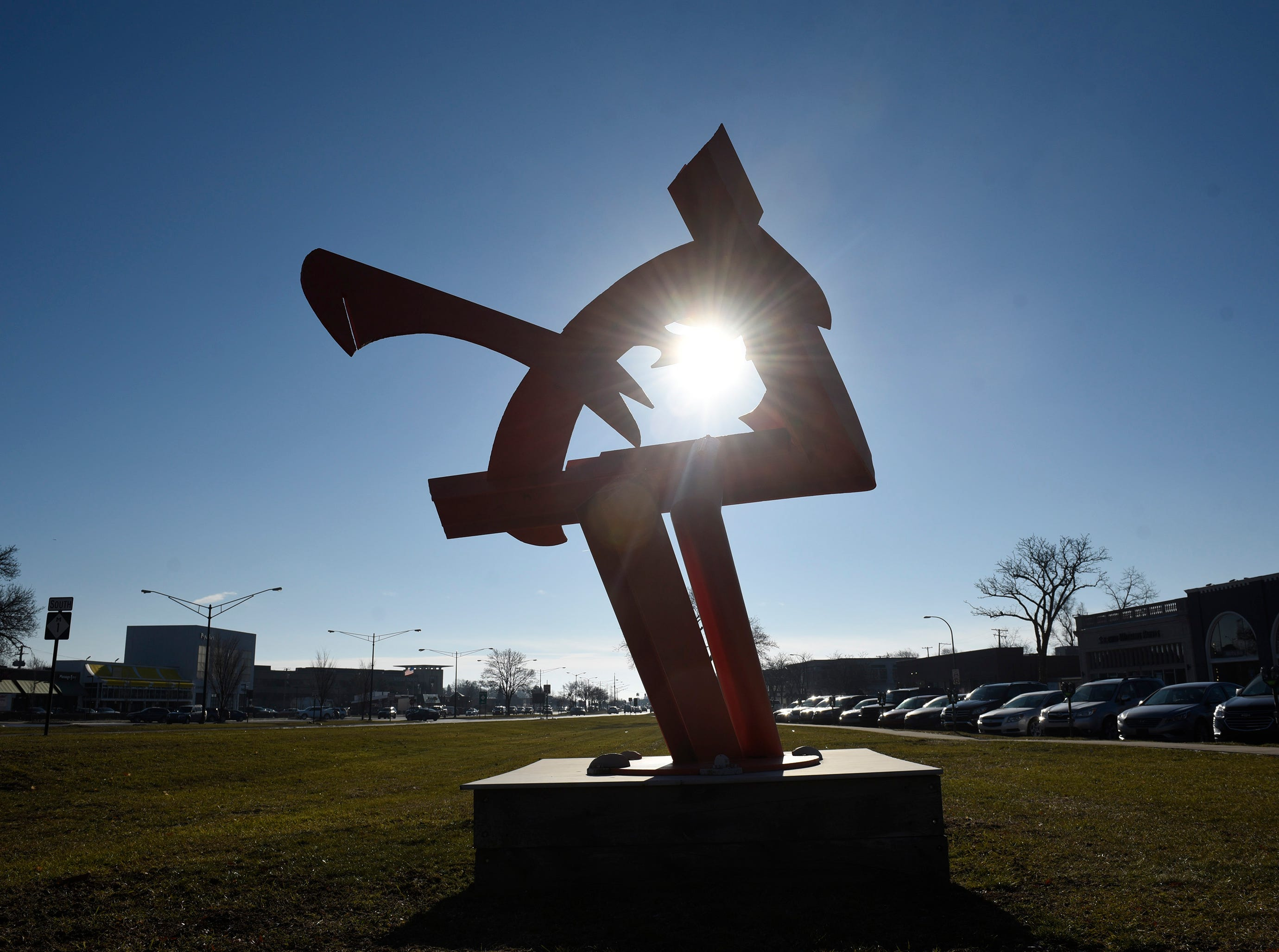 Choopy by Mark di Suvero on Old Woodward just south of the 555 Building.