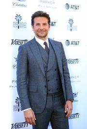 """Bradley Cooper arrives at the Variety brunch at the Parker Palm Springs, where he was named one of the 10 Directors To Watch for his film, """"A Star Is Born."""""""