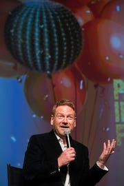 Kenneth Branagh, director and actor for the film All is True speaks during the 30th annual Palm Springs International Film Festival during Opening Nigh Gala at Palm Springs High School on January 4, 2019.