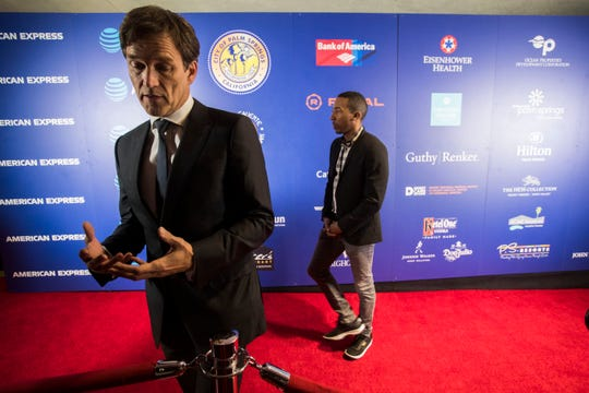 Actor Stephen Moyer arrives on the red carpet for the film All is True speaks during the 30th annual Palm Springs International Film Festival during Opening Nigh Gala at Palm Springs High School on January 4, 2019.