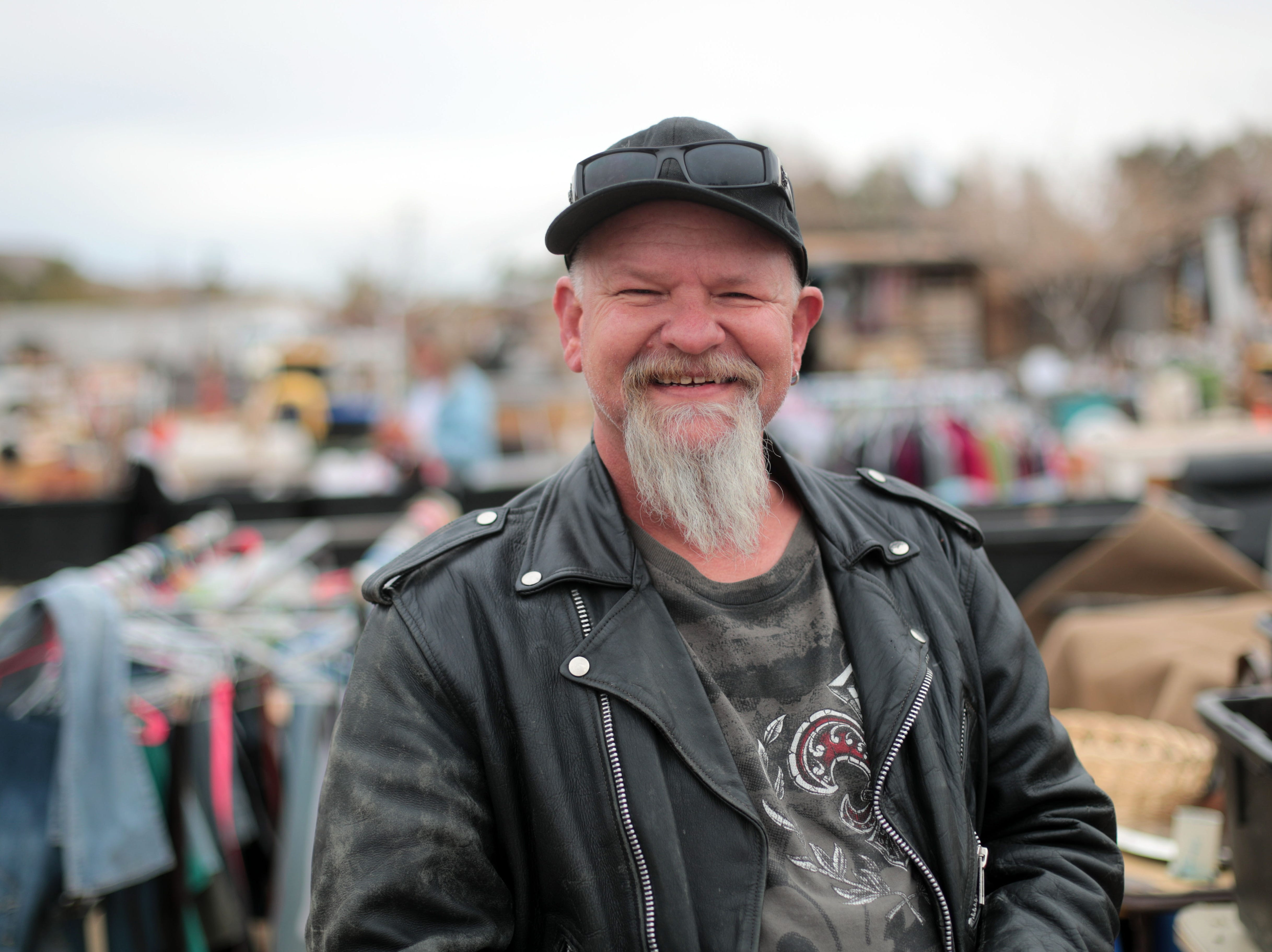 Willie Hampton, of Joshua Tree, is a regular seller at the  Sky Village Swap Meet in Yucca Valley/ Photo taken on Saturday, January 5, 2019.
