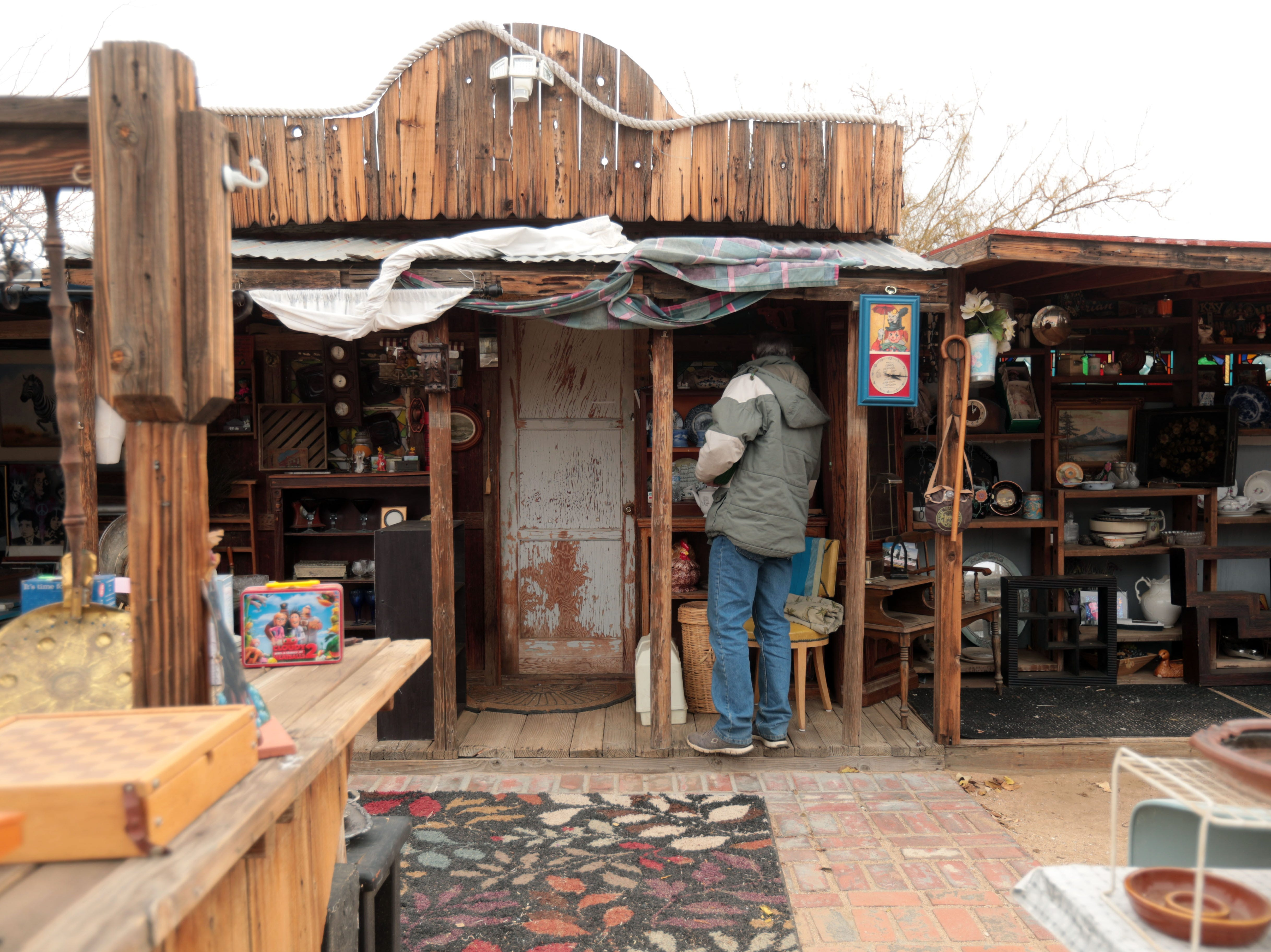 The center of the Sky Village Swap Meet in Yucca Valley has more permeant structures. Photo taken on Saturday, January 5, 2019.
