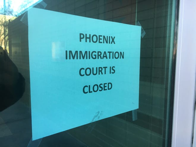 The government shutdown has led to the closing of immigration courts.