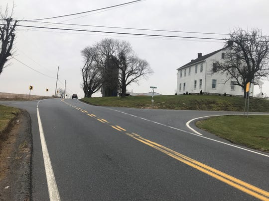The intersection of Thompson Avenue and Hill Church Road in North Annville Township.