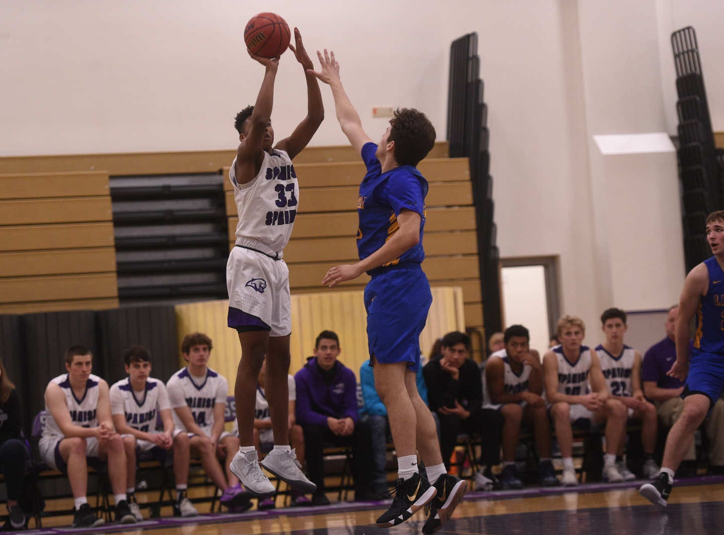 Spanish Springs takes on Lincoln (Calif.) during their basketball game in Reno on Jan. 4, 2019.