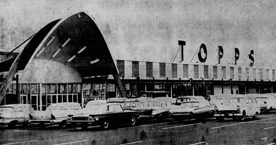 March 1963: A snapshot of a brand new Topps store in Irondequoit.