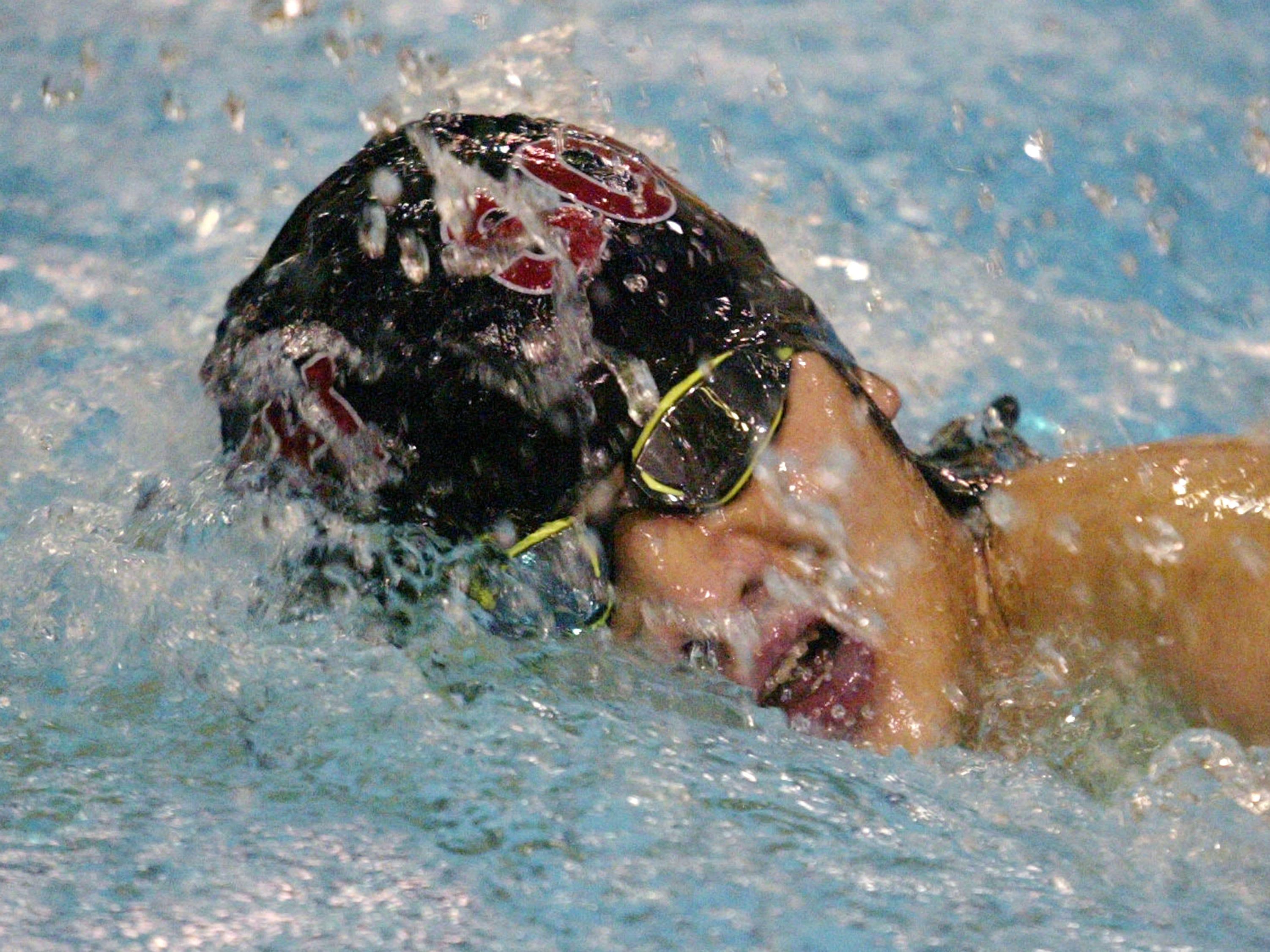 Sheboygan South's Cheng Xiong swims th 200 yard medley during the Sheboygan North Raider Relays, Saturday, January 5, 2019, in Sheboygan, Wis.