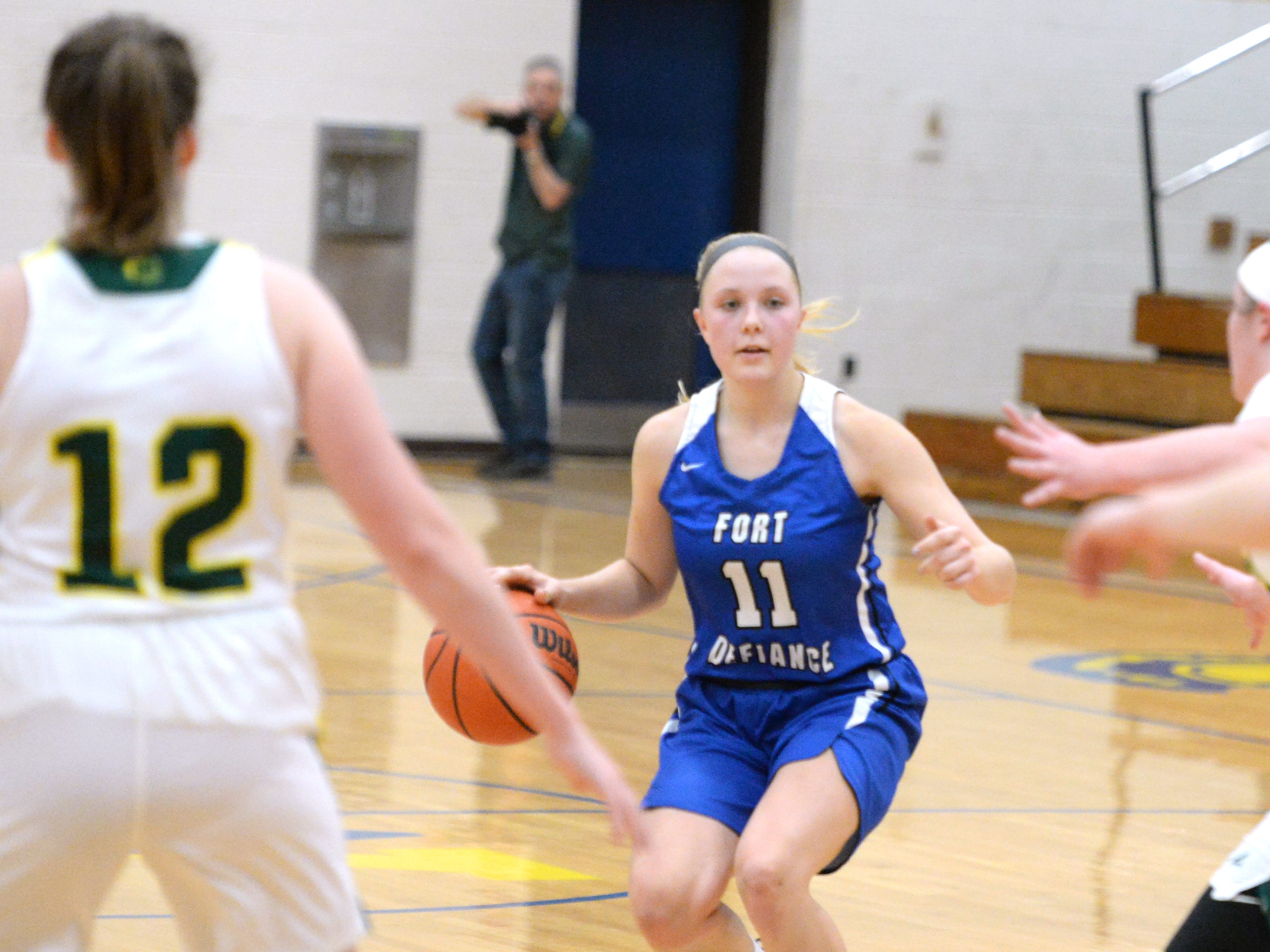 Fort Defiance's Jordan Schulz finished with six points Saturday at the Play of Preemies Showcase at Western Albemarle High School.