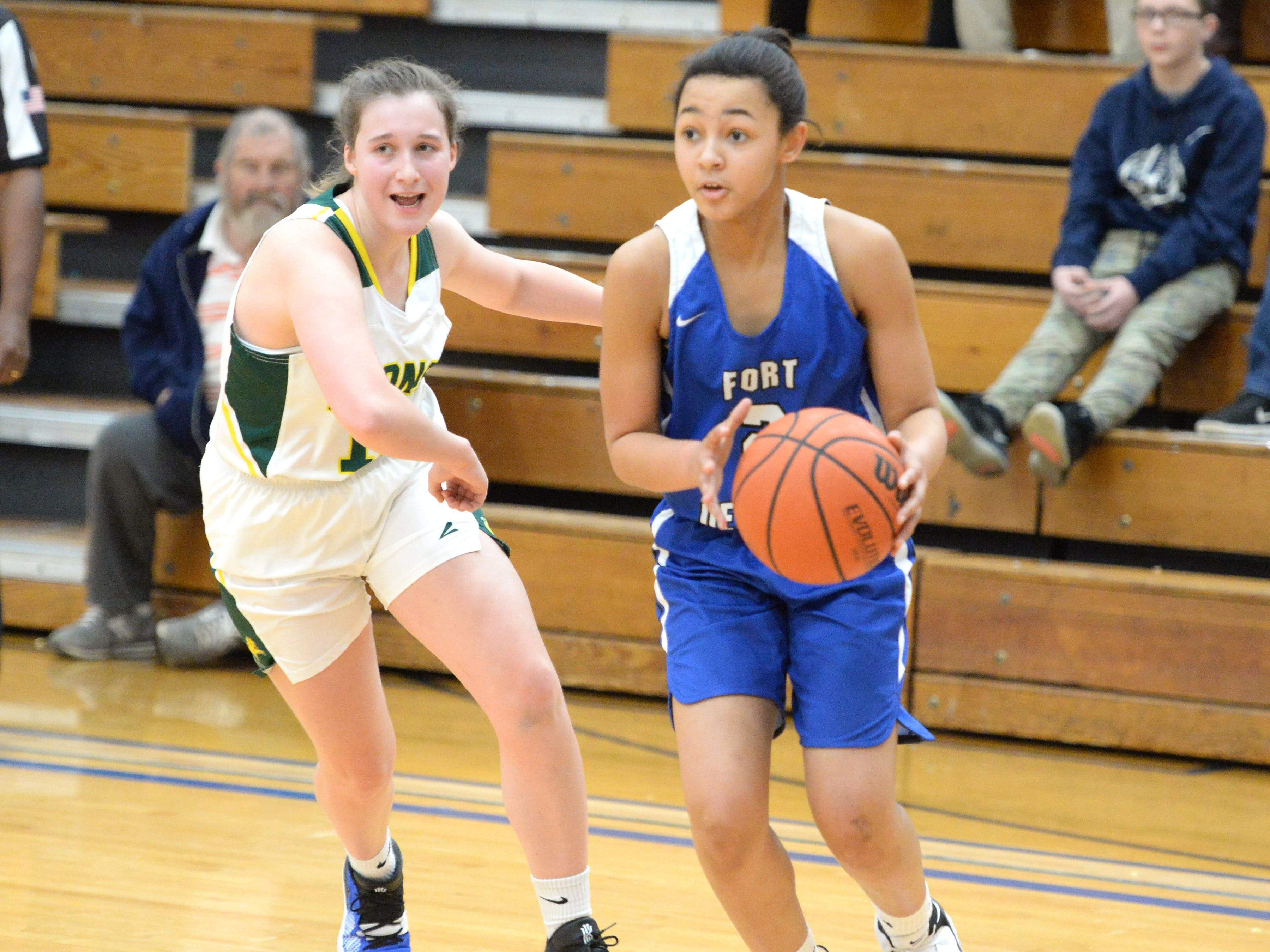 Fort Defiance's Kiersten Ransome finished with 16 points Saturday at the Play of Preemies Showcase at Western Albemarle High School.