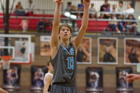 Canyon View senior shooting guard Parker Holmes scored 21 points to lead the Falcons to a big win over Desert Hills on Wednesday and will look to repeat his performance against a reeling Cedar City Redmen team on Friday night.