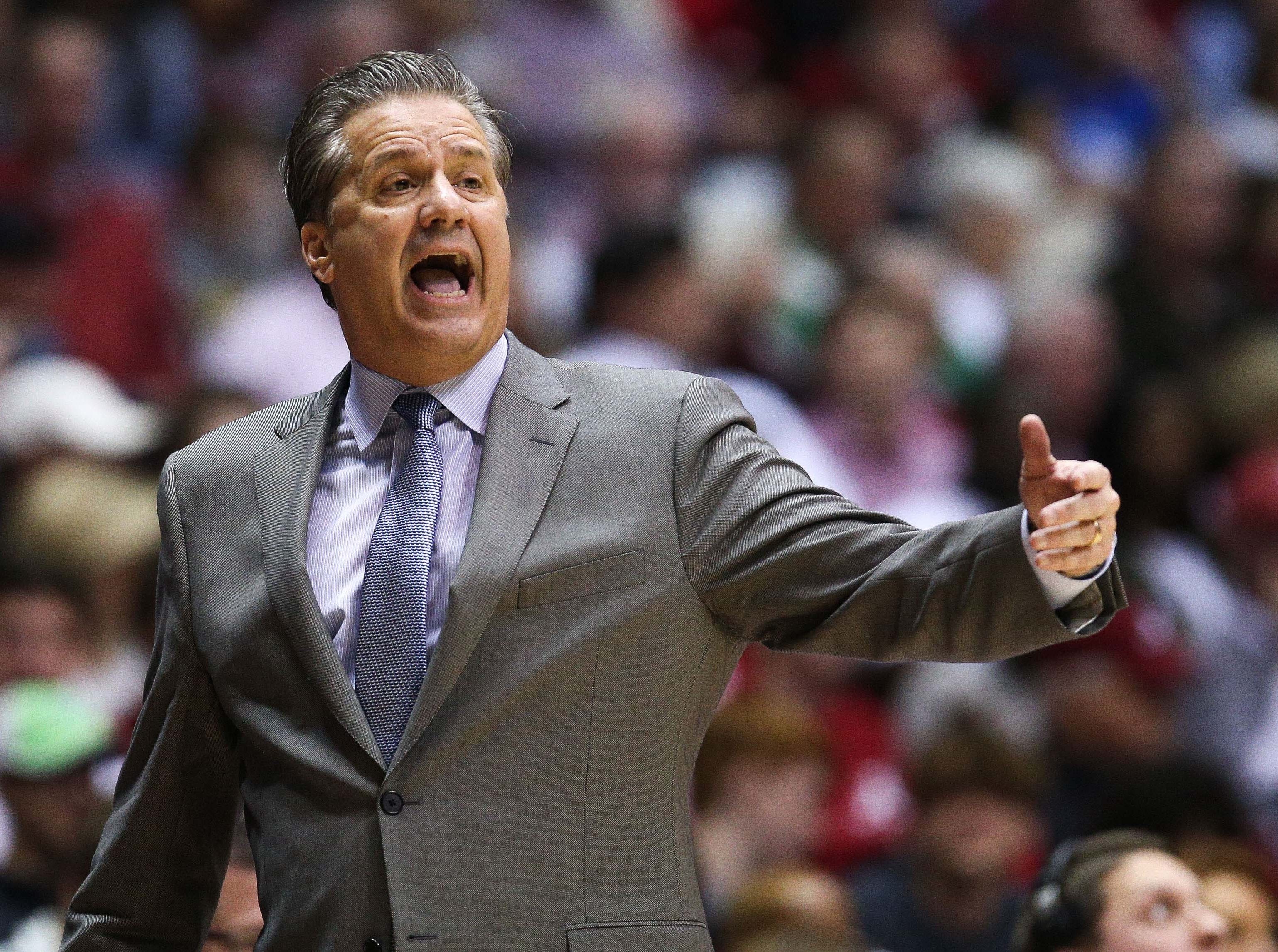 Jan 5, 2019; Tuscaloosa, AL, USA; Kentucky Wildcats head coach John Calipari during the second half against Alabama Crimson Tide at Coleman Coliseum. Mandatory Credit: Marvin Gentry-USA TODAY Sports