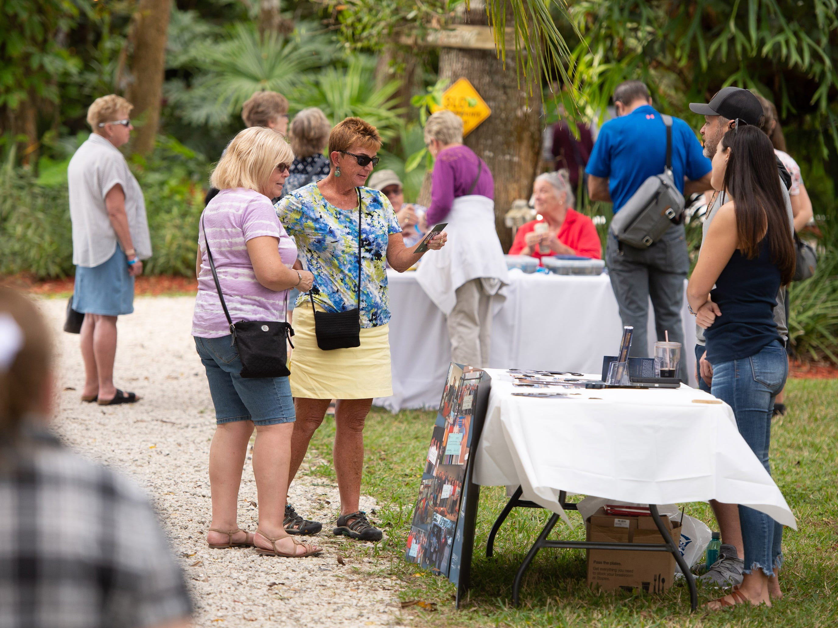 People enjoy a rare tour of the original 1914 homestead of Vero Beach visionary Waldo Sexton during the Waldo Sexton Homestead Days on Saturday, Jan. 5, 2019, at Waldo's Secret Garden in Vero Beach.