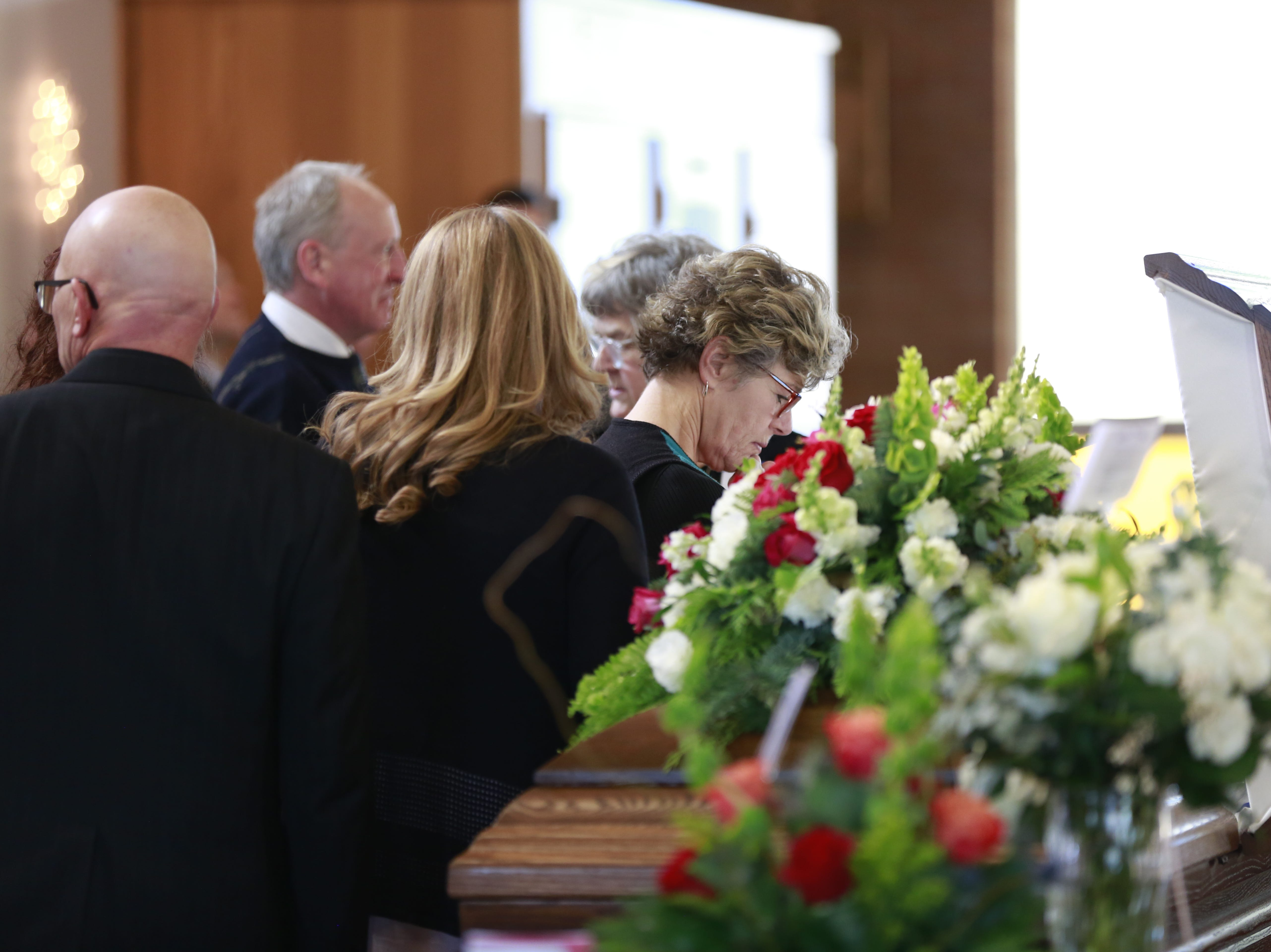 Family members and friends attend former Sen. Walter Chilsen's funeral service Friday, Jan. 04, 2019, at Holy Name of Jesus Parish in Wausau, Wisc. T'xer Zhon Kha/USA TODAY NETWORK-Wisconsin