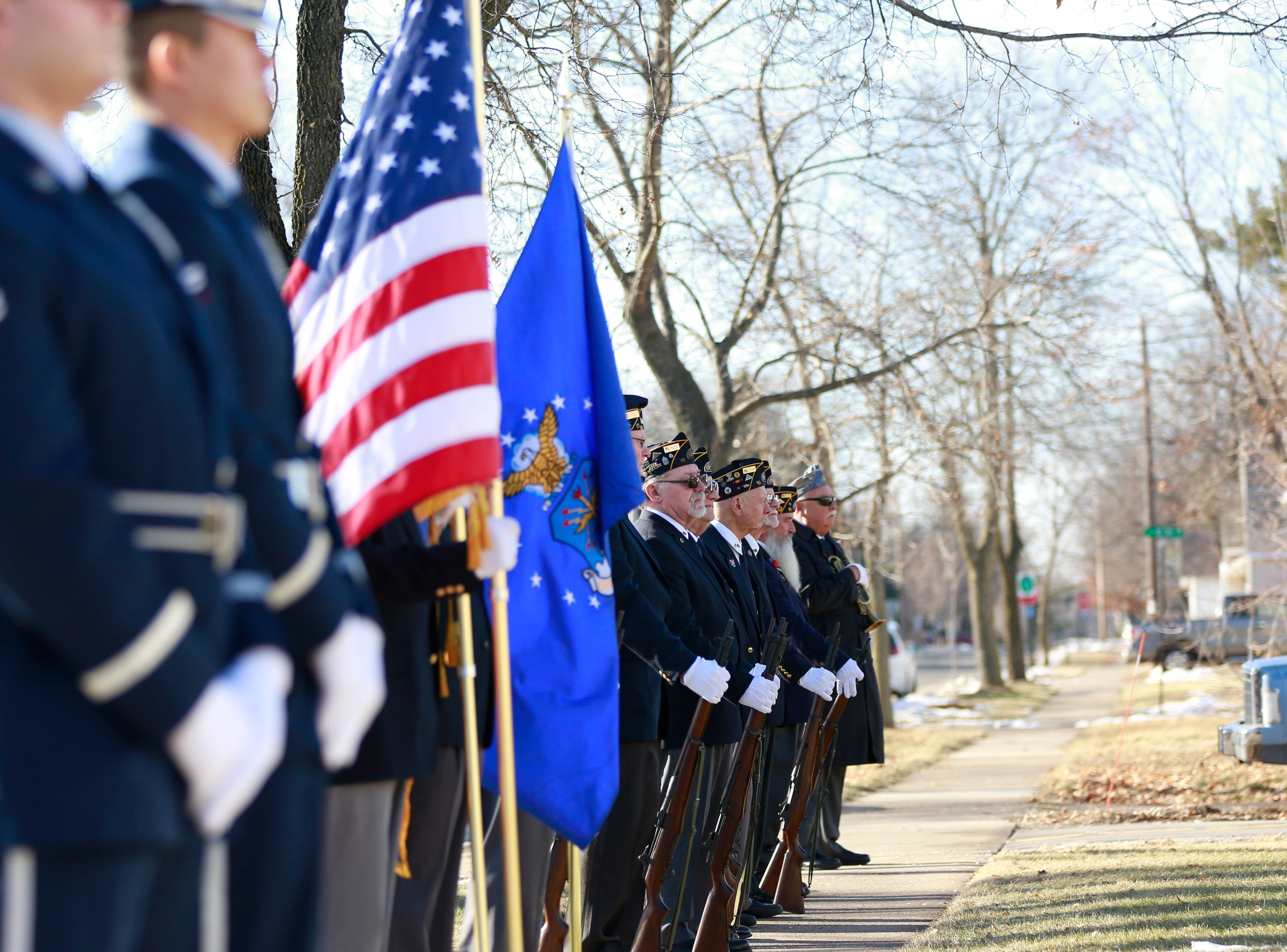 American Legion Montgomery-Plant-Dudley Post 10 and United States Air Force honor former Sen. Walter Chilsen during his funeral service Friday, Jan. 04, 2019, at Holy Name of Jesus Parish in Wausau, Wisc. T'xer Zhon Kha/USA TODAY NETWORK-Wisconsin