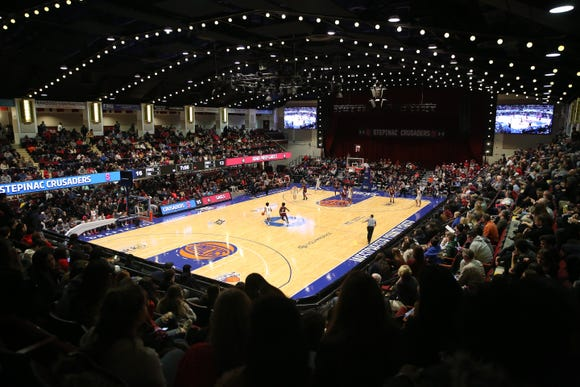Packed house at the Westchester County Center in White Plains for the annual Crusader Classic between Stepinac and Iona Jan. 4, 2019. Iona won the game 60-55.